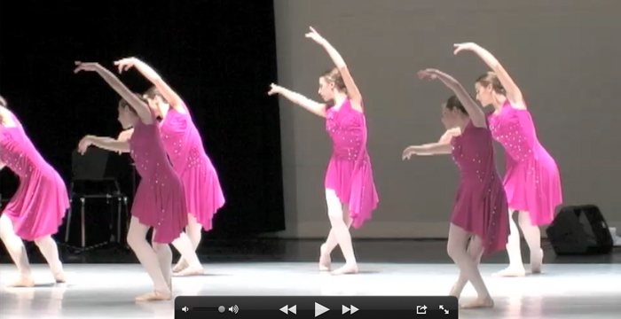 Dance Fusion performs accompanied by Ryan book